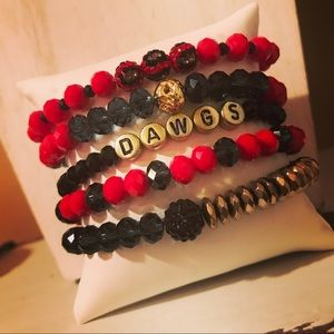Georgia Bulldogs Bracelet Stack